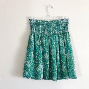 Zara Green Floral Skirt